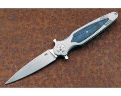 Складной нож Reptilian Магистр 03-2, сталь D2, рукоять сталь/G10