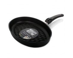 Сковорода гриль овальная AMT AMT3524BBQ, 35х24 см, h 5 см, литой алюминий