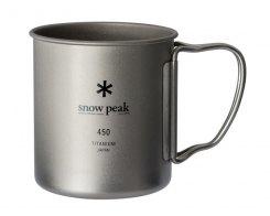 Кружка Snow Peak MG-143, 450 мл (одностенная), титан