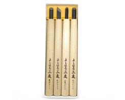 Резцы по дереву (стамески) Yoshiharu Y-4, 4 шт.