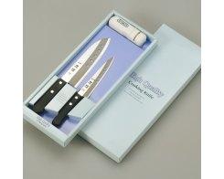 Набор из двух ножей и точилки Tojiro FC-103 Tadateru-Saku