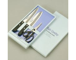 Набор из двух ножей и ножниц Tojiro FC-105 Tadateru-Saku