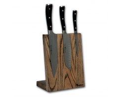Подставка для ножей магнитная Woodinhome KS002SSAB, 20х26х12,5 см.