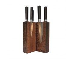 Магнитная подставка для 6 ножей Woodinhome KS003SOB 15х24х15 см.