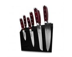 Набор из 8-ми кухонных ножей на подставке из дуба Yaxell GOU 161 YA/SGOU-KS004SOBL
