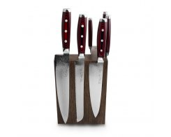 Набор из 8-ми кухонных ножей на подставке из дуба Yaxell GOU 161 YA/SGOU-KS009SOB