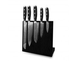 Набор из 5-ти кухонных ножей на подставке из дуба, Yaxell Gou 101, YA/GOU-KS002LSOBL