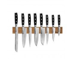 Набор из 8-ми кухонных ножей на магнитном держателе из дуба, Yaxell Gou 101, YA/GOU-KS010SON