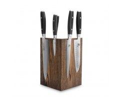 Набор из 6-ти кухонных ножей на подставке из дуба Yaxell RAN YA/RAN-KS003SOB