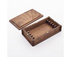 Деревянная шкатулка для хранения 5-ти заточных брусков Венев (VID) Жук 5328